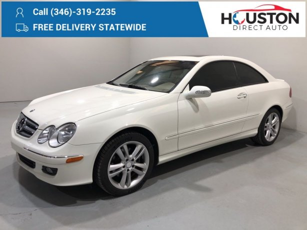 Used 2009 Mercedes-Benz CLK for sale in Houston TX.  We Finance!