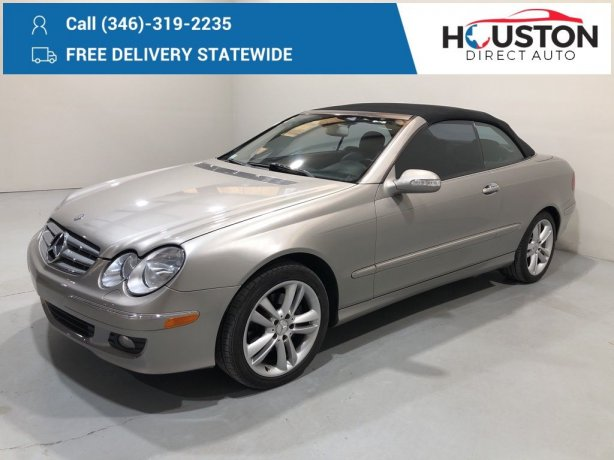 Used 2007 Mercedes-Benz CLK for sale in Houston TX.  We Finance!
