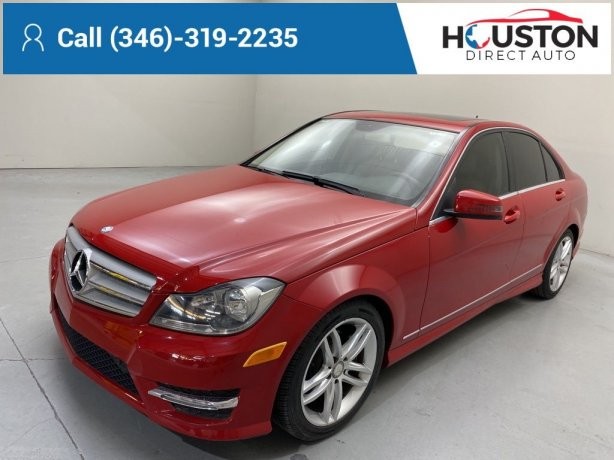 Used 2013 Mercedes-Benz C-Class for sale in Houston TX.  We Finance!