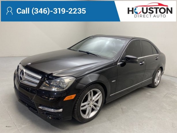 Used 2012 Mercedes-Benz C-Class for sale in Houston TX.  We Finance!