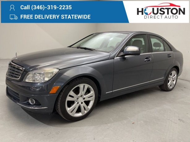 Used 2009 Mercedes-Benz C-Class for sale in Houston TX.  We Finance!