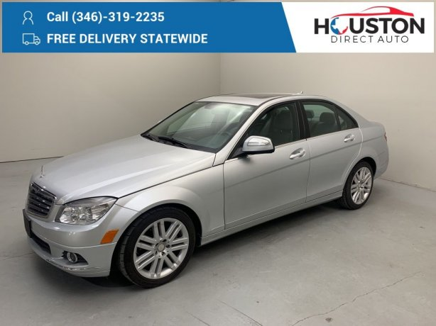 Used 2008 Mercedes-Benz C-Class for sale in Houston TX.  We Finance!