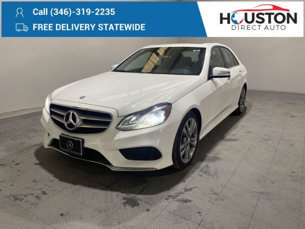 Used 2016 Mercedes-Benz E-Class for sale in Houston TX.  We Finance!