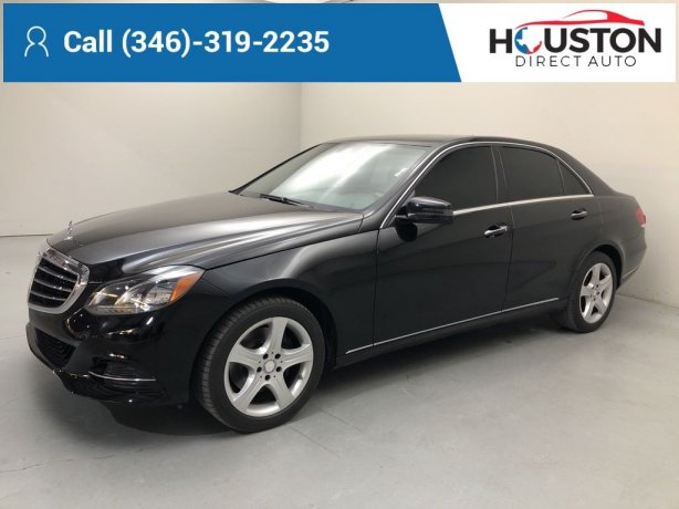 Used 2014 Mercedes-Benz E-Class for sale in Houston TX.  We Finance!