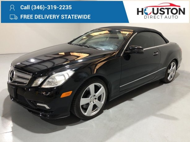 Used 2011 Mercedes-Benz E-Class for sale in Houston TX.  We Finance!