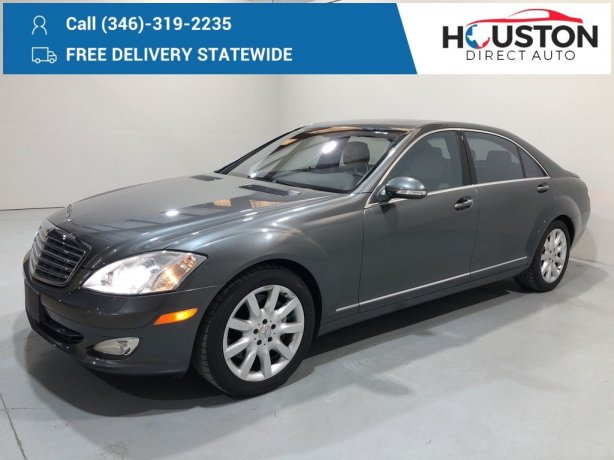 Used 2007 Mercedes-Benz S-Class for sale in Houston TX.  We Finance!