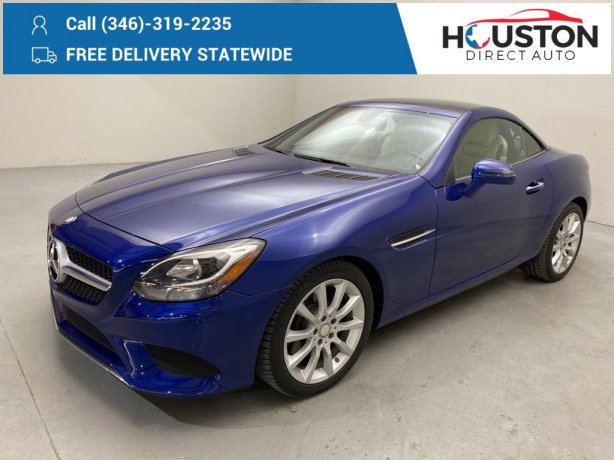 Used 2017 Mercedes-Benz SLC for sale in Houston TX.  We Finance!