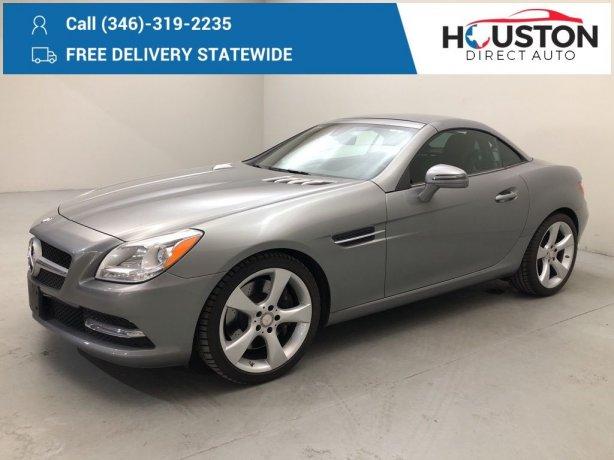Used 2013 Mercedes-Benz SLK for sale in Houston TX.  We Finance!