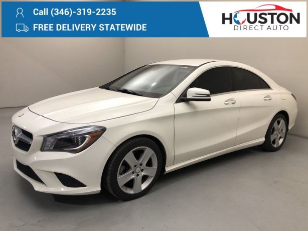 Used 2015 Mercedes-Benz CLA for sale in Houston TX.  We Finance!