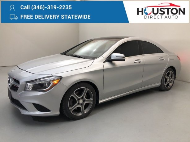 Used 2014 Mercedes-Benz CLA for sale in Houston TX.  We Finance!