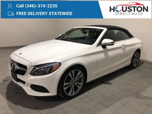 Used 2018 Mercedes-Benz C-Class for sale in Houston TX.  We Finance!