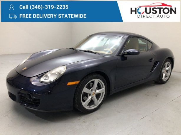 Used 2008 Porsche Cayman for sale in Houston TX.  We Finance!