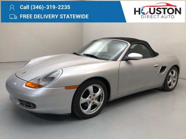 Used 2002 Porsche Boxster for sale in Houston TX.  We Finance!