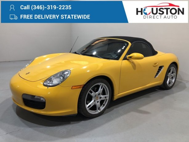 Used 2005 Porsche Boxster for sale in Houston TX.  We Finance!