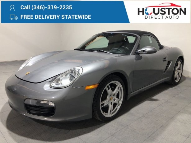 Used 2007 Porsche Boxster for sale in Houston TX.  We Finance!