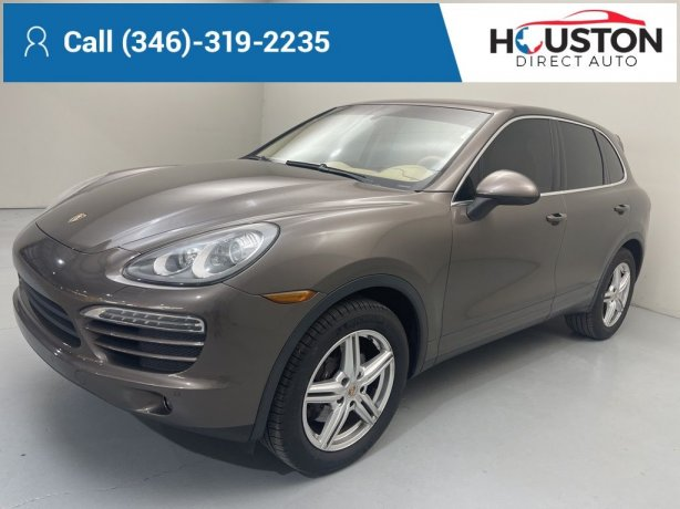 Used 2013 Porsche Cayenne for sale in Houston TX.  We Finance!