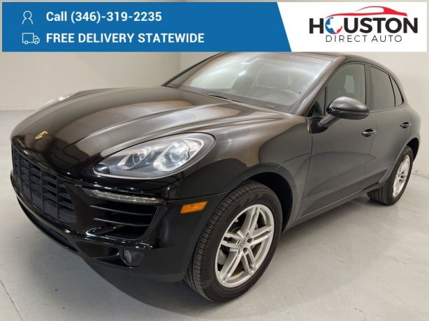 Used 2016 Porsche Macan for sale in Houston TX.  We Finance!