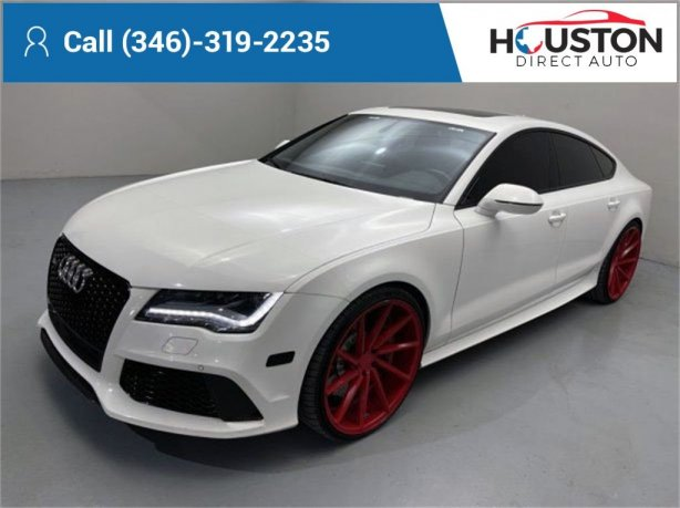 Used 2014 Audi RS 7 for sale in Houston TX.  We Finance!