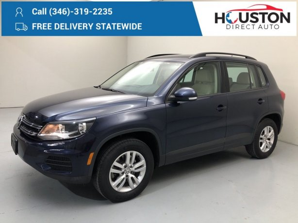 Used 2016 Volkswagen Tiguan for sale in Houston TX.  We Finance!