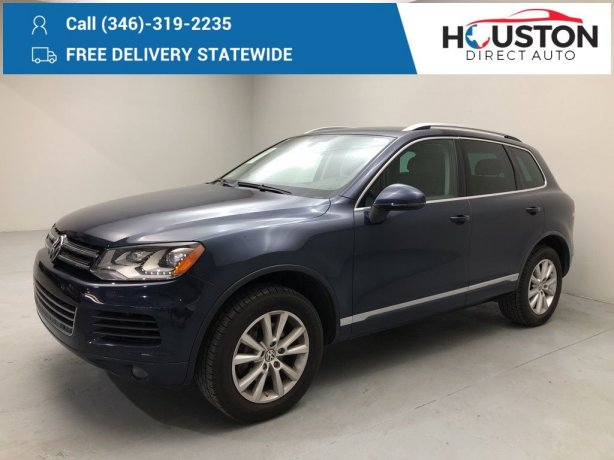 Used 2014 Volkswagen Touareg for sale in Houston TX.  We Finance!