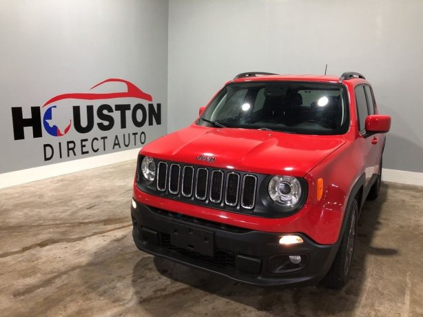 Used 2018 Jeep Renegade for sale in Houston TX.  We Finance!