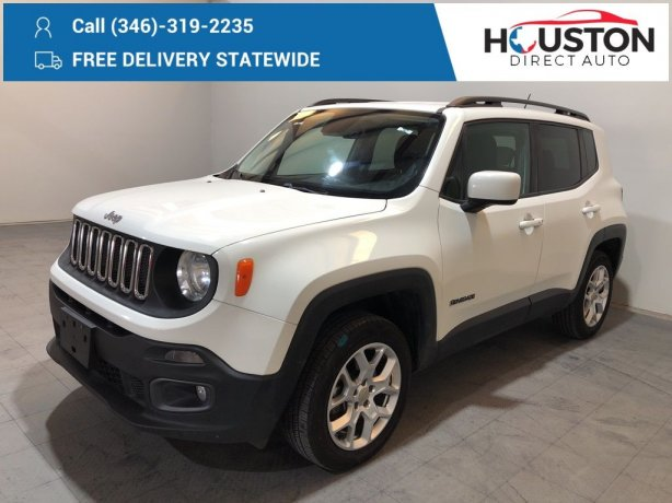 Used 2015 Jeep Renegade for sale in Houston TX.  We Finance!