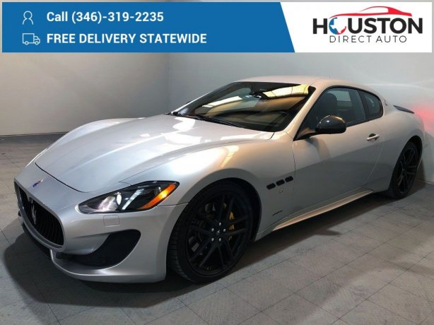 Used 2013 Maserati GranTurismo for sale in Houston TX.  We Finance!