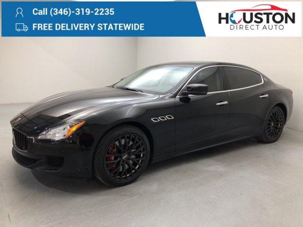 Used 2014 Maserati Quattroporte for sale in Houston TX.  We Finance!