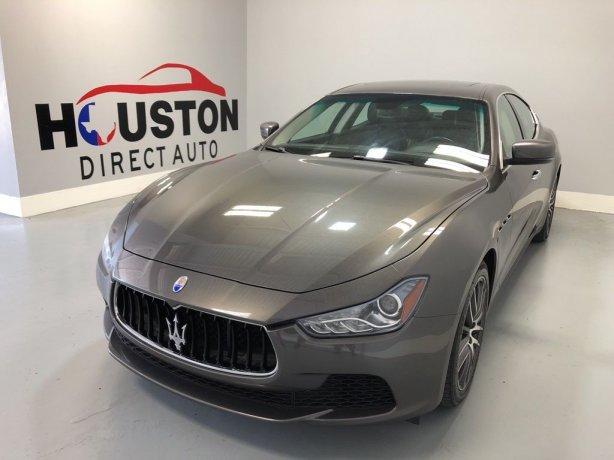 Used 2016 Maserati Ghibli for sale in Houston TX.  We Finance!