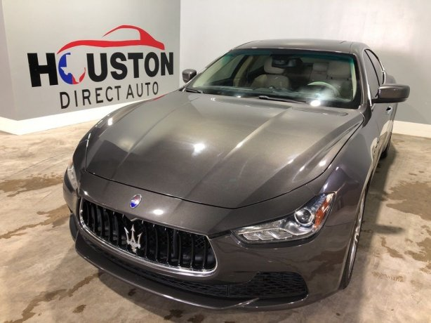 Used 2016 Maserati Ghibli for sale in Houston TX.  We Finance!
