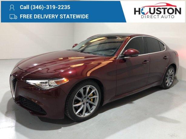 Used 2017 Alfa Romeo Giulia for sale in Houston TX.  We Finance!