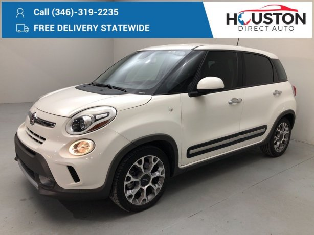 Used 2017 Fiat 500L for sale in Houston TX.  We Finance!