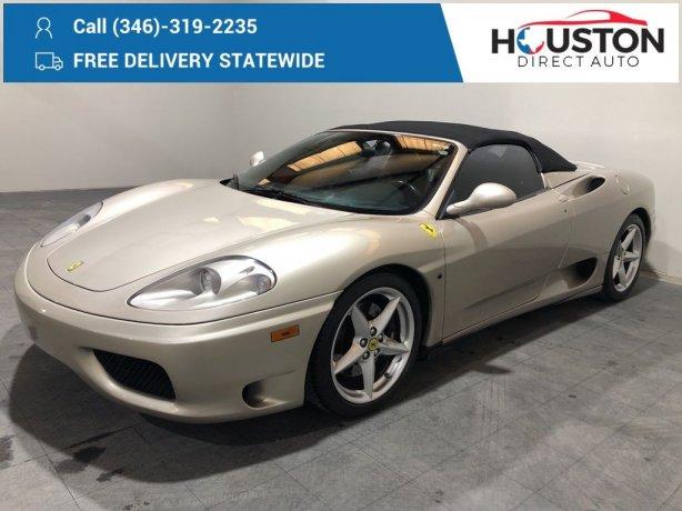 Used 2004 Ferrari 360 Modena for sale in Houston TX.  We Finance!